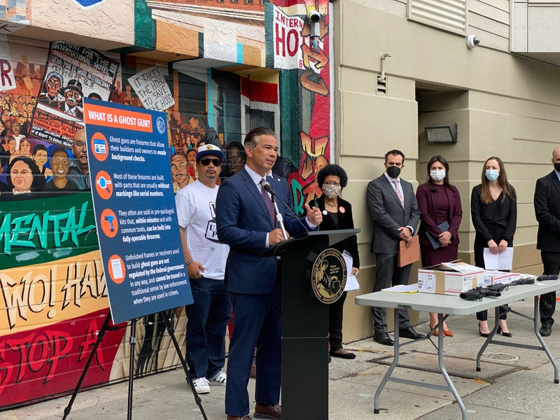 """California Attorney General Rob Bonta is throwing his weight behind San Francisco's lawsuit against three retailers that sell """"ghost guns."""""""