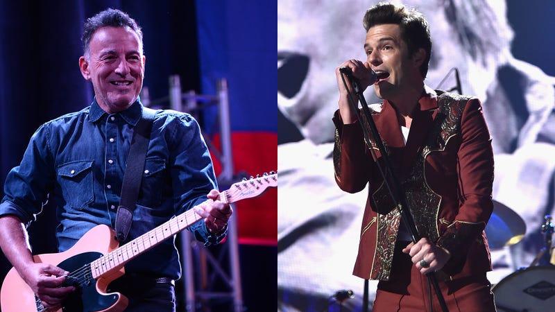 Bruce Springsteen and Brandon Flowers
