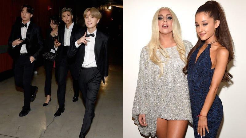 BTS, Lady Gaga, Ariana Grande