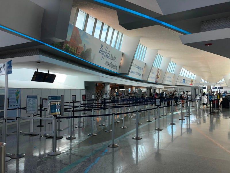 Buffalo Niagara International Airport. July 1, 2020 (WBEN Photo/Mike Baggerman)
