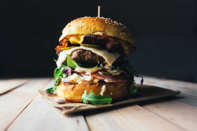 A huge cheeseburger