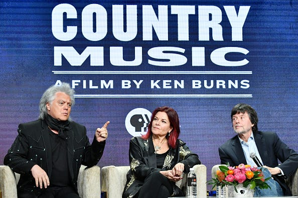 Ken Burns (r.) discusses his new documentary, 'Country Music.'