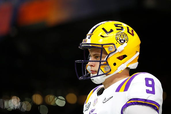 Joe Burrow prepares for the national title with LSU.
