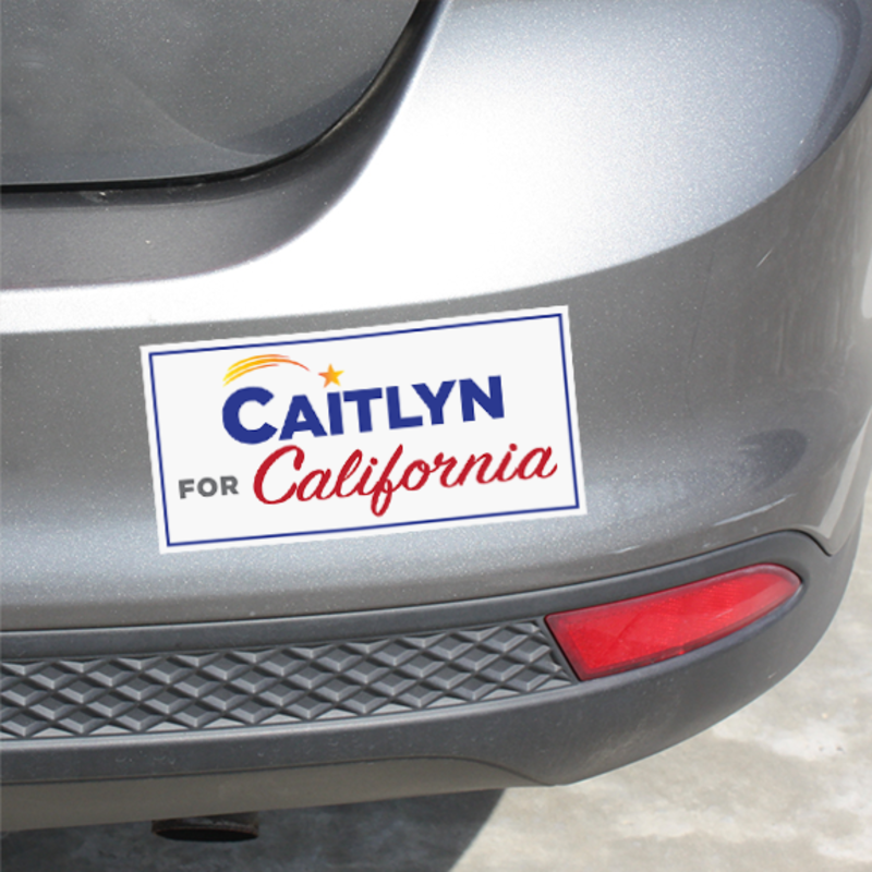 Caitlyn for California bumper stickers (set of 2), $12