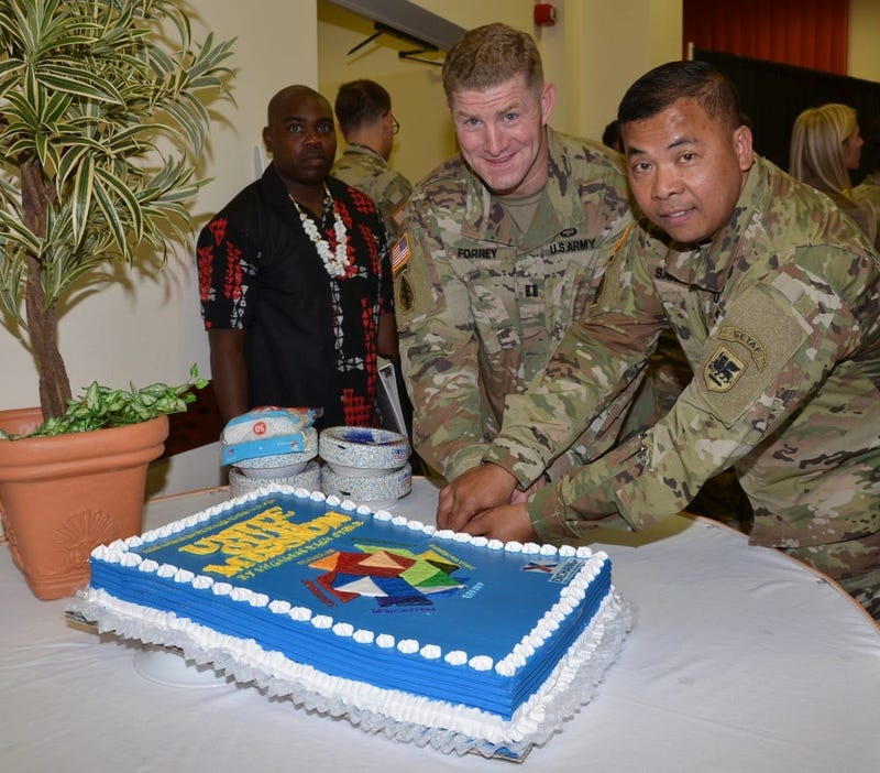 The Vicenza Military Community celebrated the Asian American Pacific Islander Heritage Month observance 30 May at the Golden Lion on Caserma Ederle.