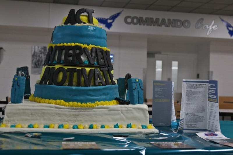 "2BCT Sexual Harassment/Assault Response and Prevention team to co-host The Commanfo Cafe's Sexual Assault Awareness and Prevention Month observance meal, which featured a ""cake off"" competition and pledge signing,"