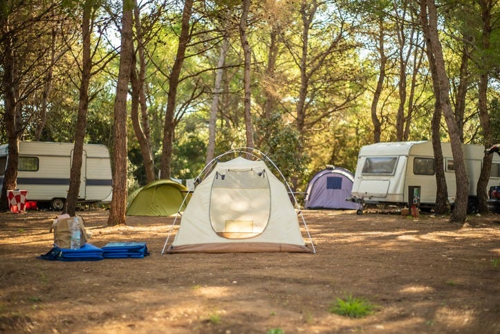 Camping is becoming the trend