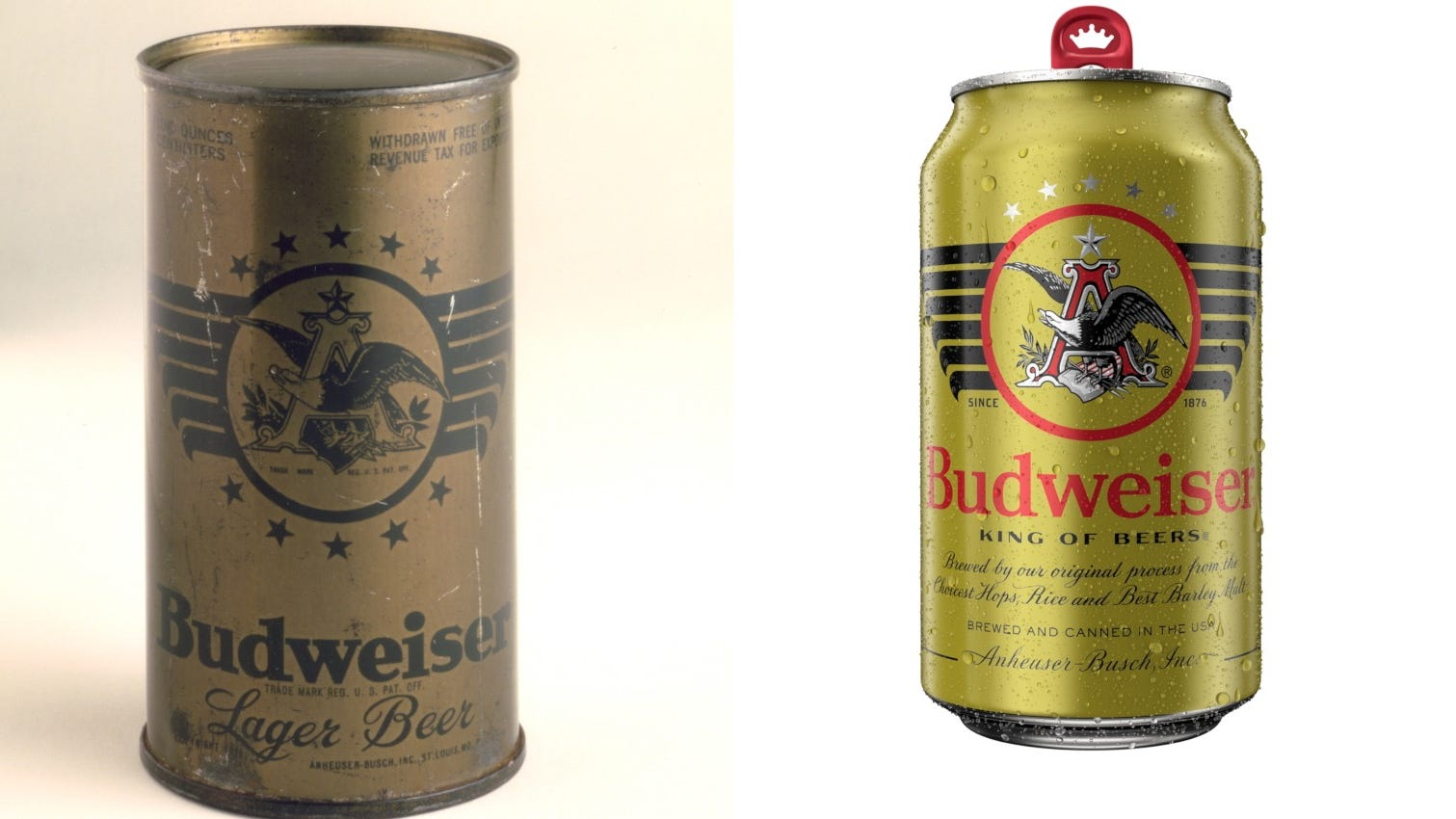 Budwesier launches new 'military heritage' cans based on vintage WWII design