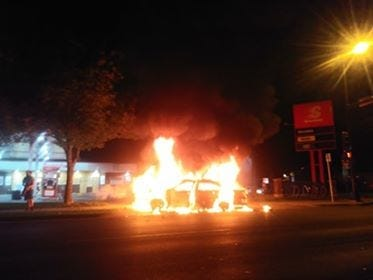 Car burning