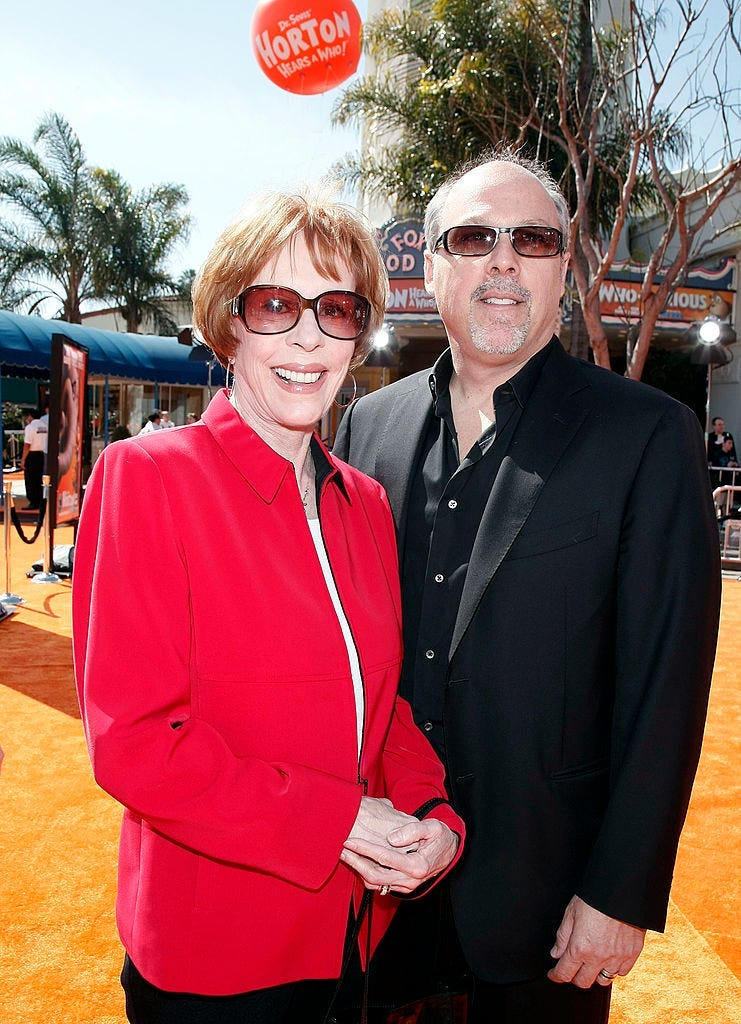 Judge Appoints Carol Burnett Guardianship Of Grandson Carol burnett is opening up about the 2002 loss of her youngest daughter, carrie hamilton, who died of cancer at the age of 38. judge appoints carol burnett