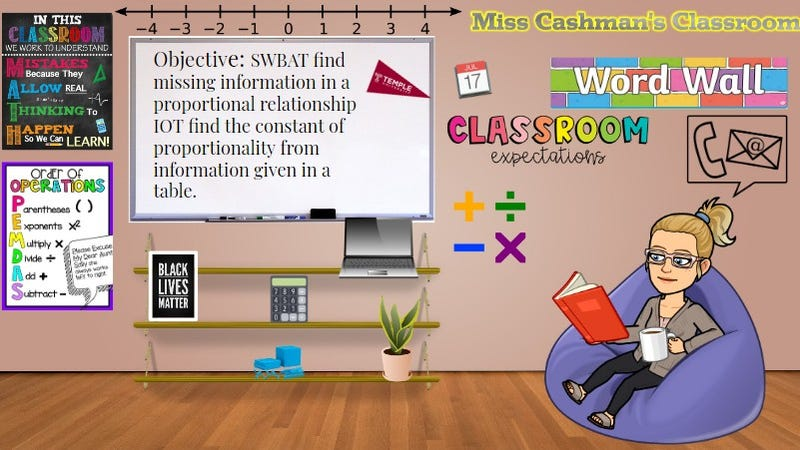 Chelsey Cashman uses Google Classroom and other online tools to teach her Wilson Middle School classes.