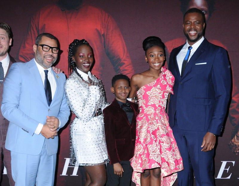 "Jordan Peele, Lupita Nyong'o, Evan Alex, Shahadi Wright Joseph and Winston Duke at Universal Pictures ""US"" Premiere"