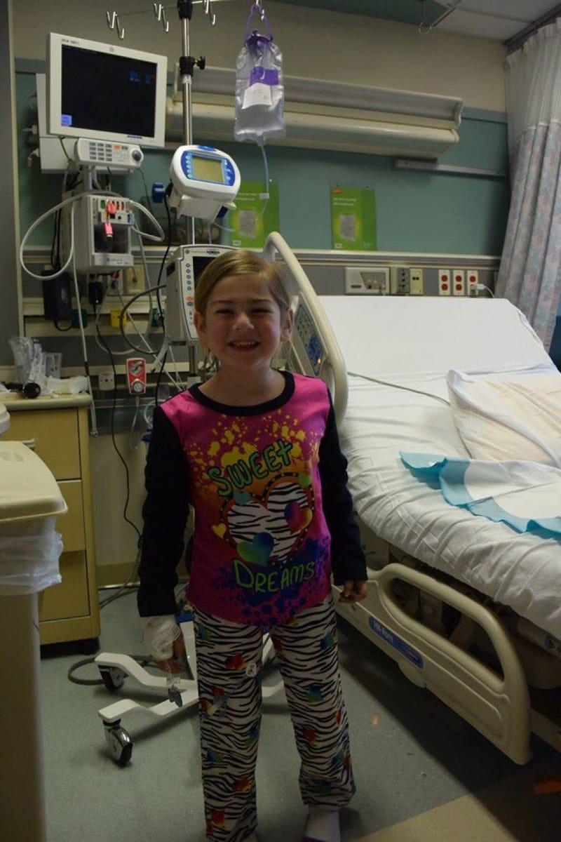 A Hospitalized Child Enjoys Their New Pajamas
