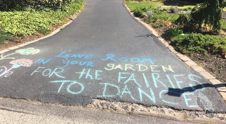 Community chalk drawings