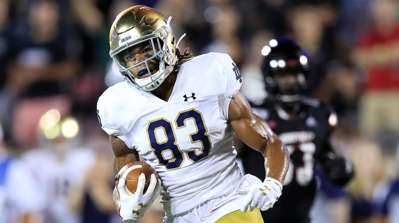 Notre Dame receiver Chase Claypool