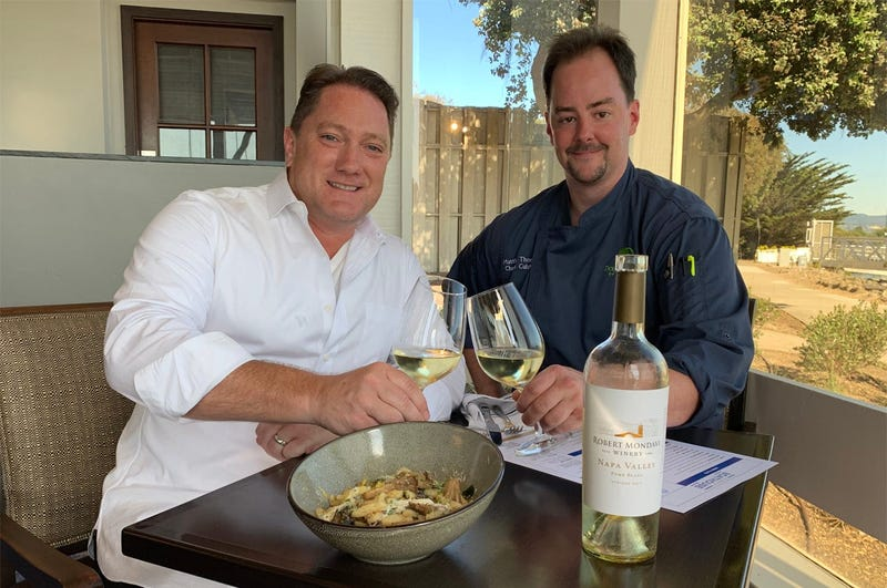 Chef Matthew Thomas and Liam (Photo credit: Foodie Chap/Liam Mayclem)