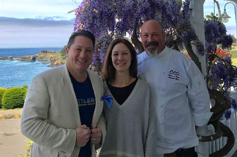 Liam with Chef Marc and Callie Dym