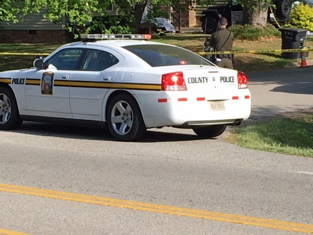 Chesterfield Police investigate death along Reams Court on May 3, 2018.