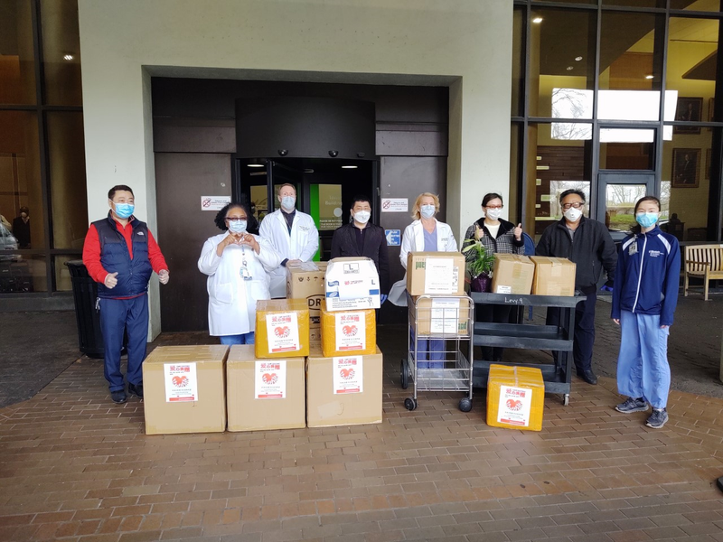 Einstein Medical Center receives PPE donations from the Chinese American community.