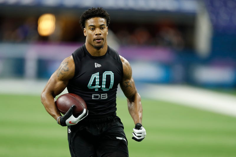 Jeremy Chinn shows off his skills at the NFL Scouting Combine.