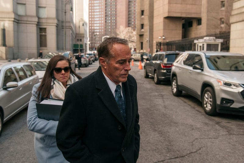 Chris Collins walks into the Manhattan courthouse before he is sentenced to 26 months in a federal prison. January 17, 2020 (Getty Images)