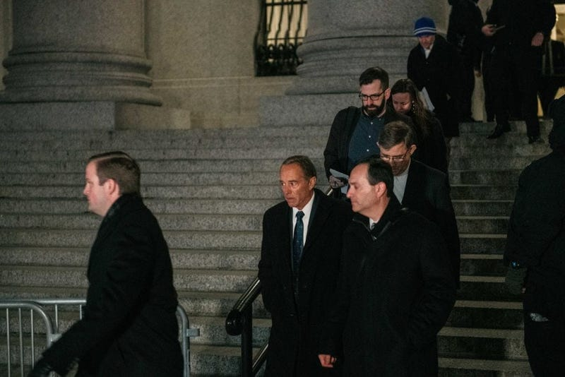 Chris Collins leaves the US Federal Courthouse in Manhattan following his 26-month prison sentence for insider trading and lying to the FBI. January 17, 2020 (Getty Images)