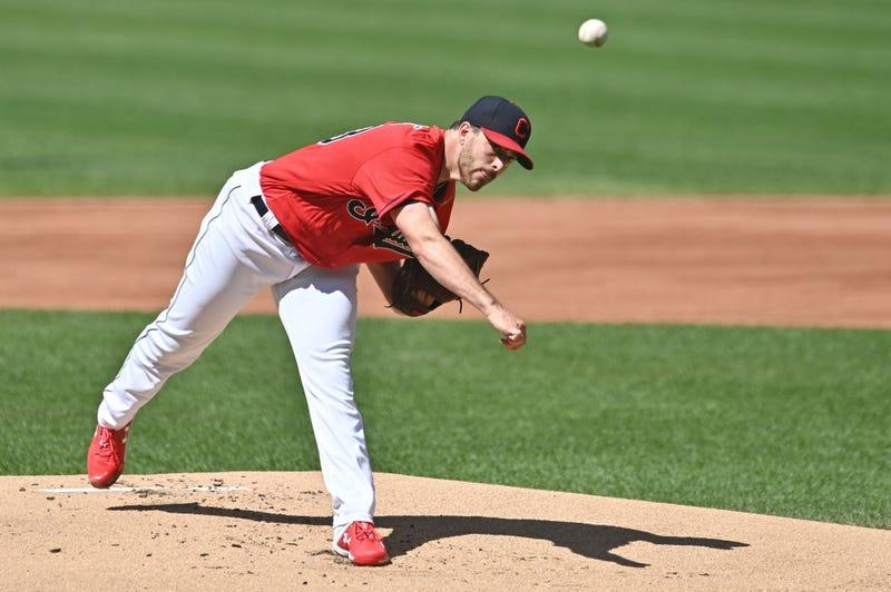 Indians pitcher Aaron Civale