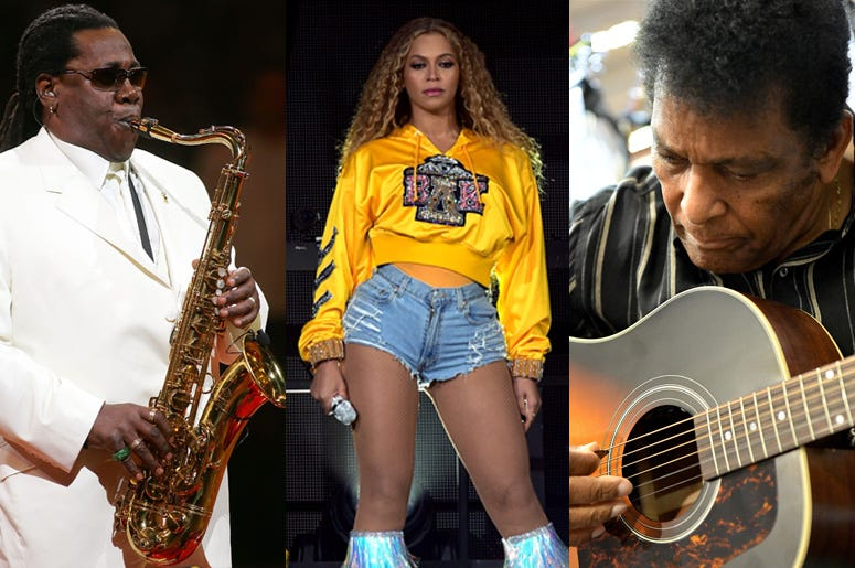 Clarence Clemons, Beyonce, Charley Pride