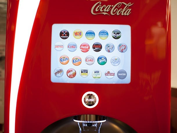Coca Cola, Freestyle Machine, Touch Free, Soda, Smartphone, Drinks