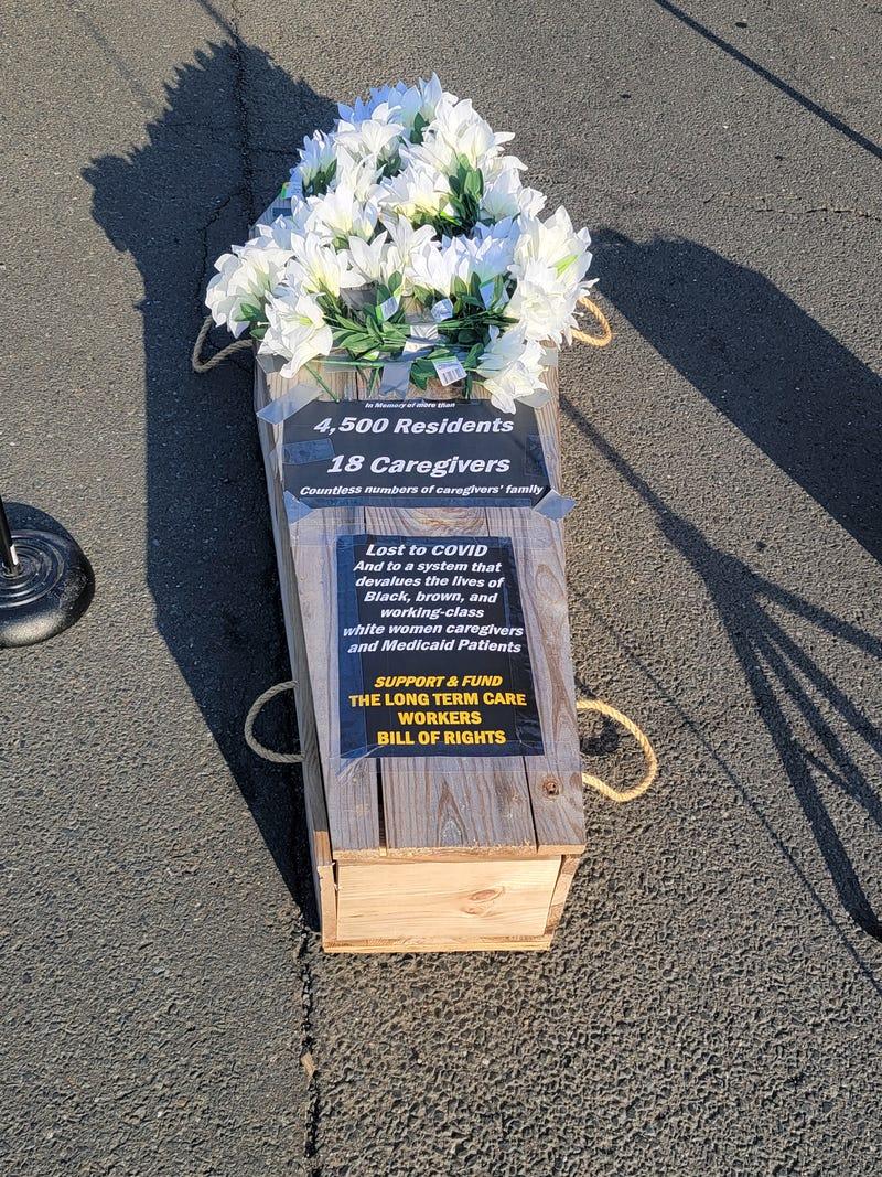 SEIU 1199NE Coffin