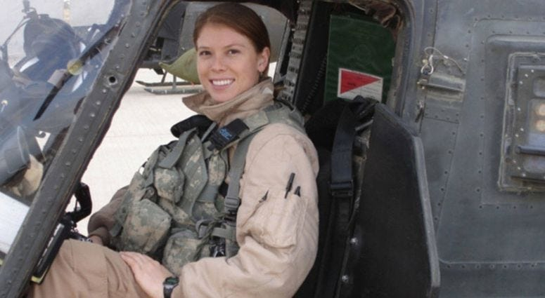 Former Army combat helicopter pilot Amber Smith