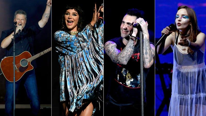 Blake Shelton, Kesha, Adam Levine, Chvrches