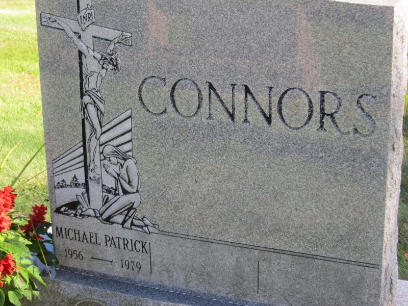 Michael Connors headstone