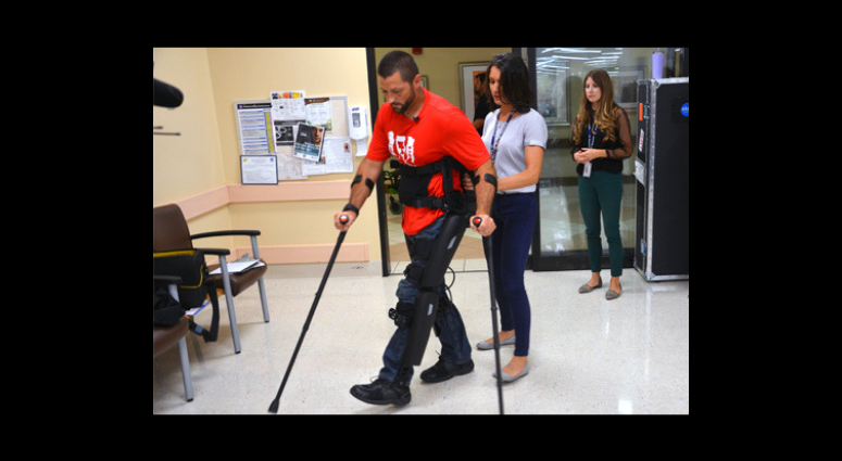 Marine Corps veteran became first paralyzed vet to be issued exoskeleton at Tampa VA.