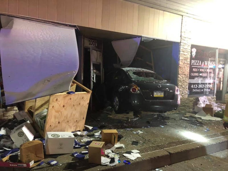 Car crashes into business in Coraopolis on July 15, 2020
