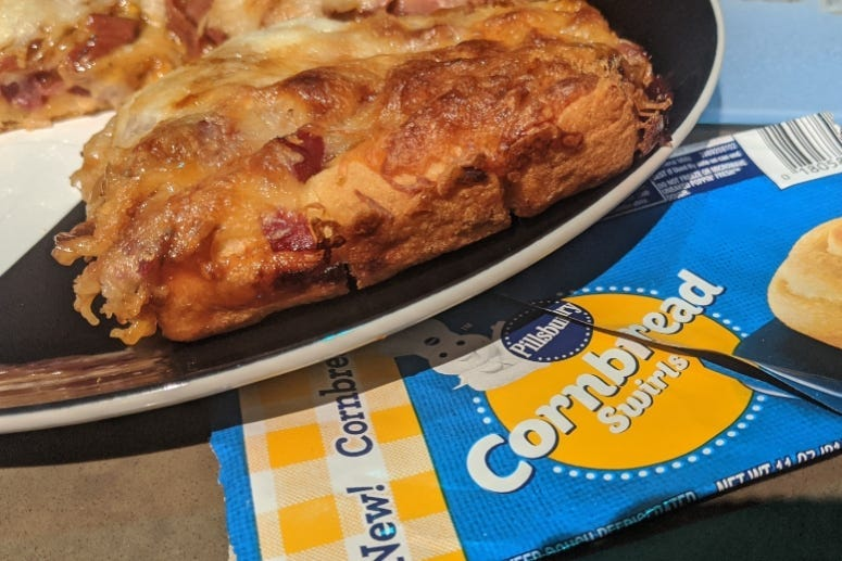 Cheesy BBQ Cornbread Pizza