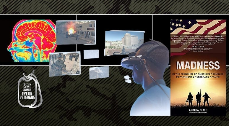 """Dr Skip Rizzo talks about Virtual Reality Therapy for PTSD and Andrea Plate discusses treating vets in her book """"Madness: In trenches of America's troubled Department of Vetrans Affairs"""""""