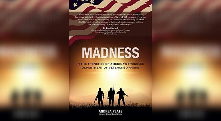 """Author Andrea Plate discusses her book """"Madness, In the trenches of America's troubled VA"""" describes her experiences helping vets"""