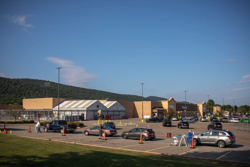 COVID-19 Drive-thru Testing at a Pennsylvania Walmart