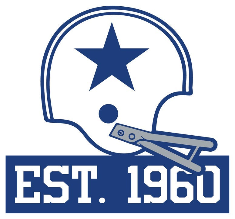 Dallas Cowboys official 60th Anniversary logo that will be used throughout the year-long celebration.