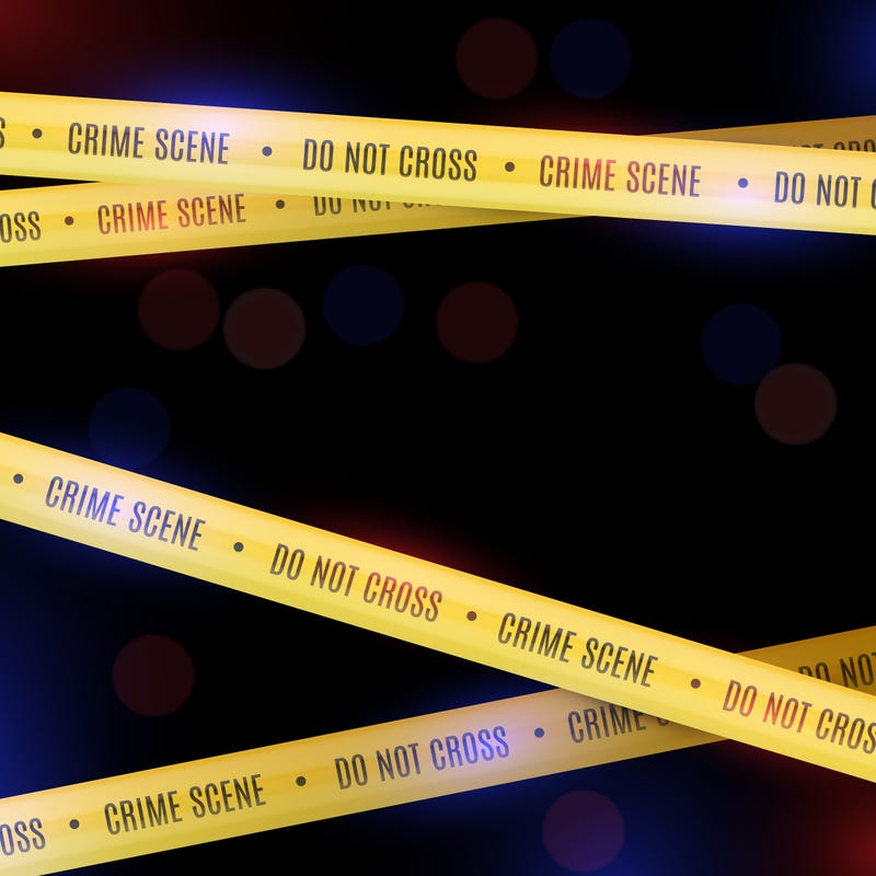 Police background with yellow police tape