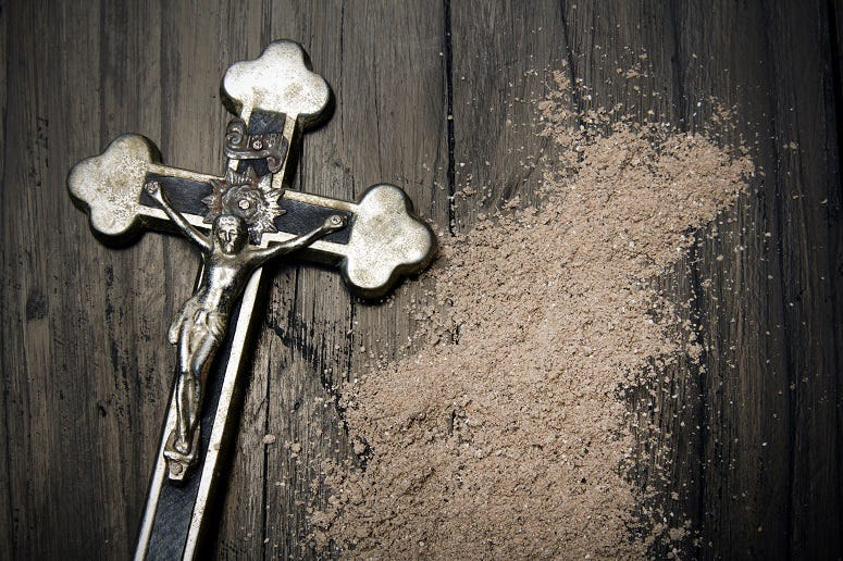 Cross with Ashes