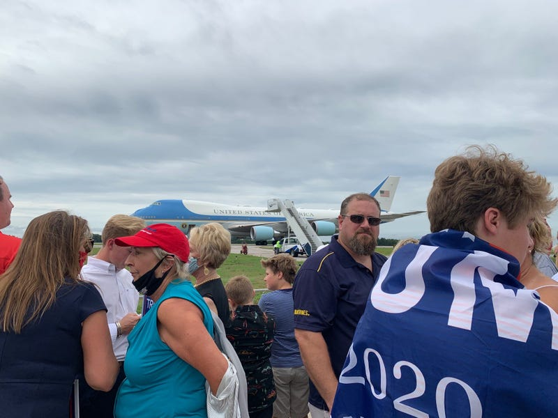 Crowd in Front of Plane - Steve Sinicropi