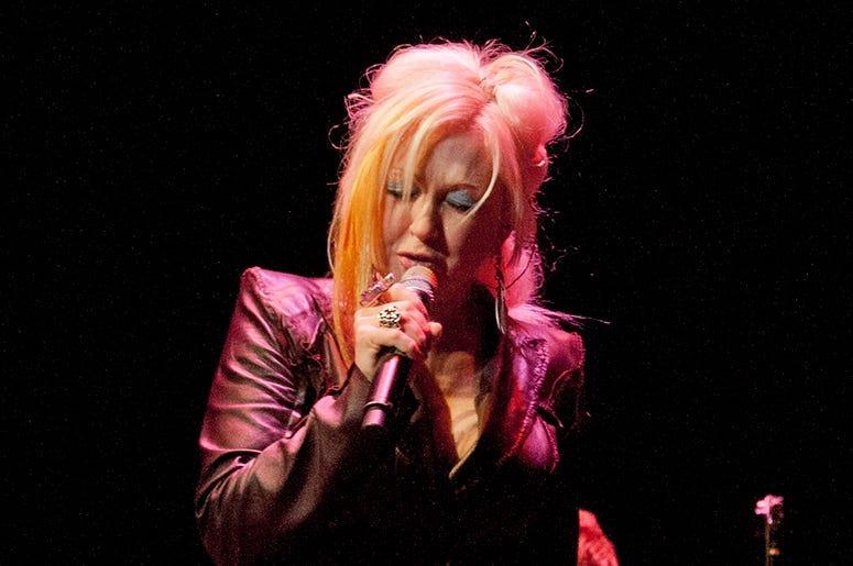 Cyndi Lauper performing at Bergen PAC
