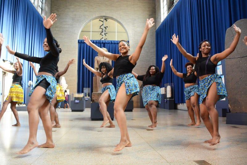 Dancers during CultureFest at Penn Museum.