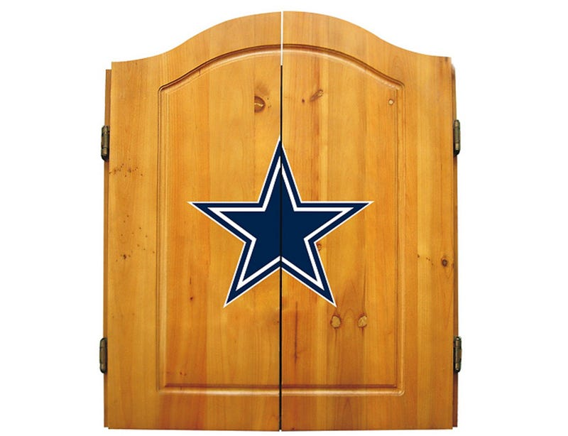 Dallas Cowboys dart board.