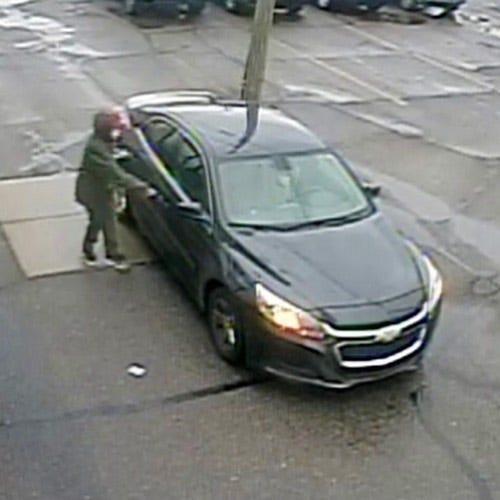 Bank robbery suspect vehicle