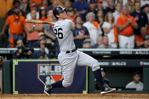 DJ LeMahieu homers for the Yankees in the ALCS.