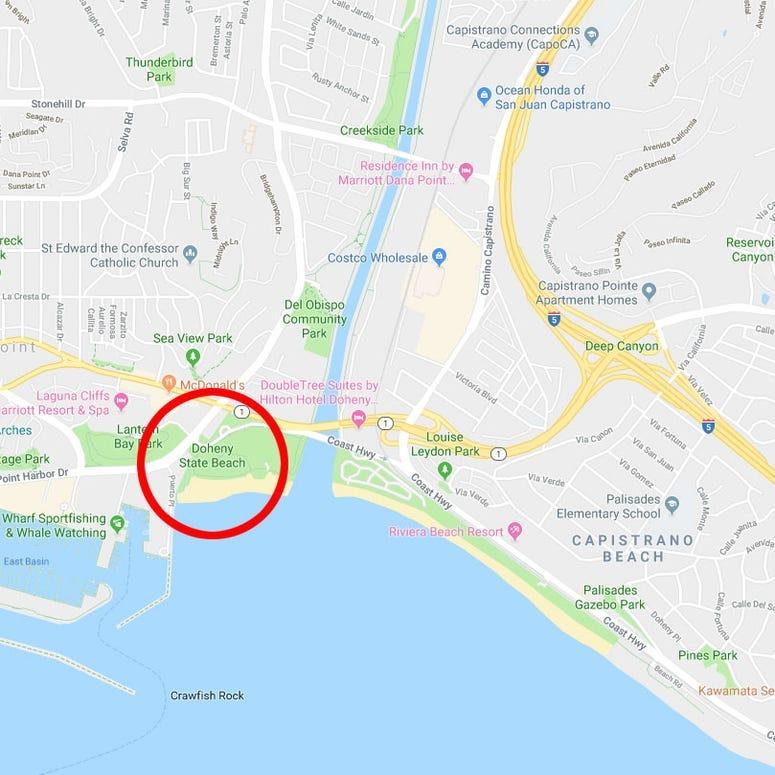 Weenie Roast Map - Doheny State Beach