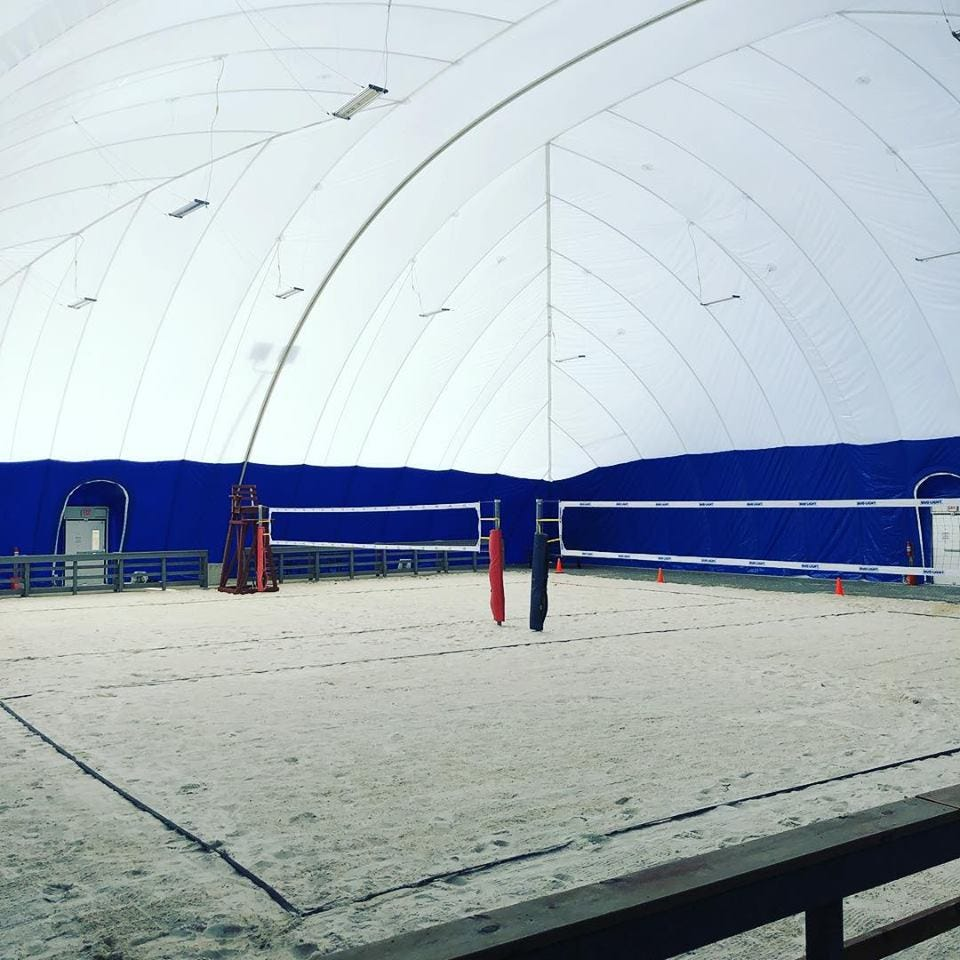 Bowling Alley In Bridgeton Builds Dome To Create Indoor Sand Volleyball Courts